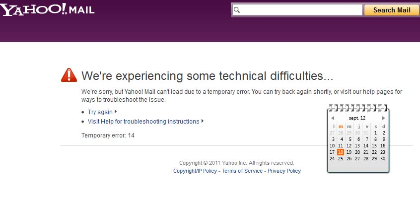 Yahoo technical difficulties: locking some users out of ...