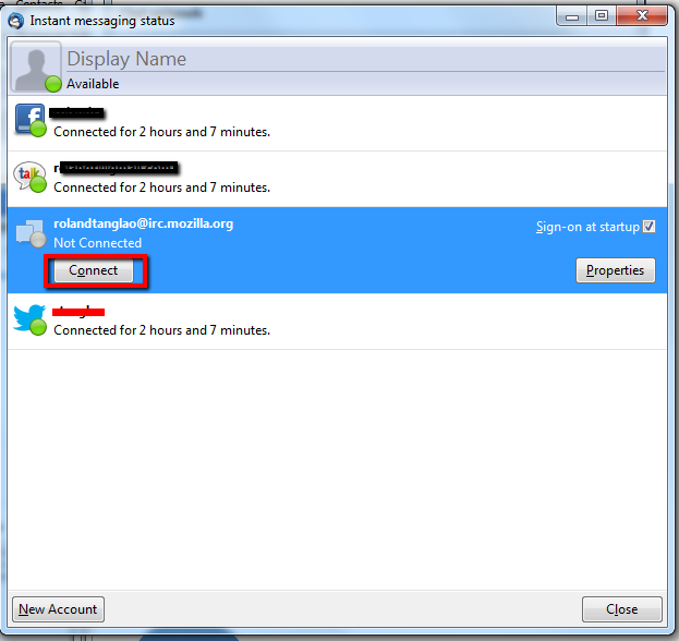 Thunderbird 15 allows you to chat using IRC, Google talk, Facebook