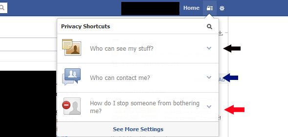 privacy facebook interface